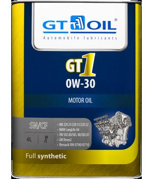 Моторное масло GT OIL GT1 0W-30, 4л