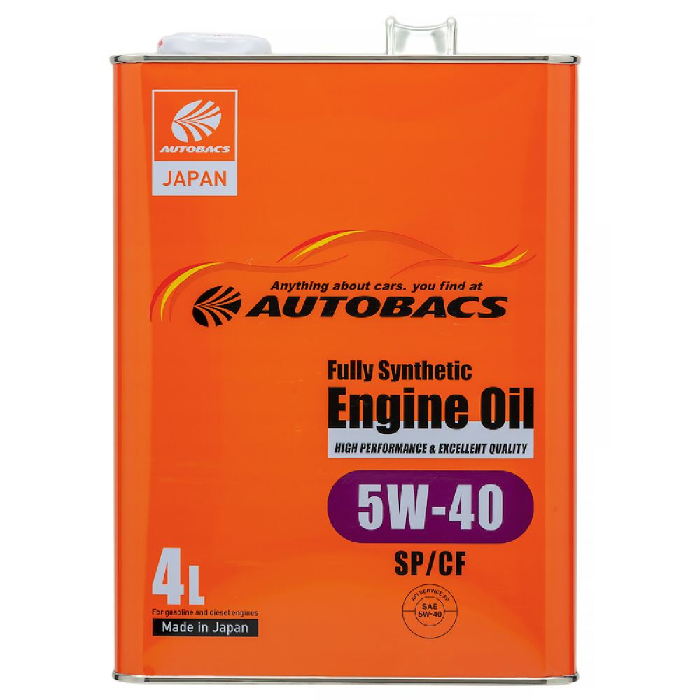 Моторное масло AUTOBACS Fully Synthetic 5W-40 SP/CF, 4л