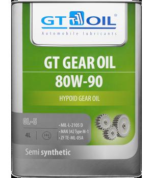 Трансмиссионное масло GT OIL GT GEAR Oil SAE 80W-90 GL-5, 4л