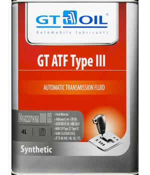 Трансмиссионное масло GT OIL GT ATF Type III, 4л