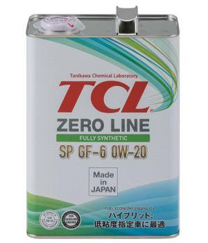 Моторное масло TCL Zero Line 0W-20 SP/GF-6, 4л