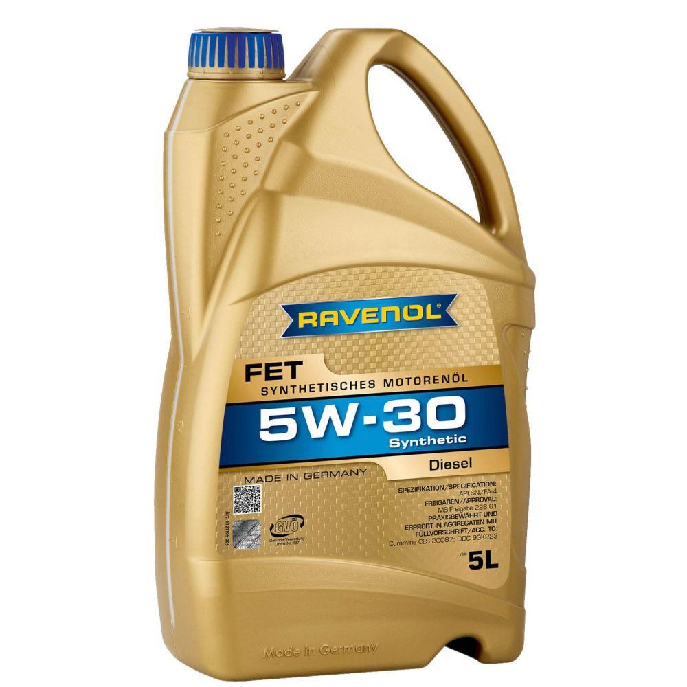 Моторное масло RAVENOL FET Fuel Efficiency Truck 5W-30, 5л