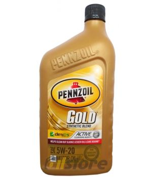Моторное масло PENNZOIL Gold Synthetic Blend SAE 5W-20 (dexos 1) (0,946л)