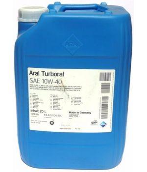 Моторное масло ARAL Turboral 10W-40, 20л