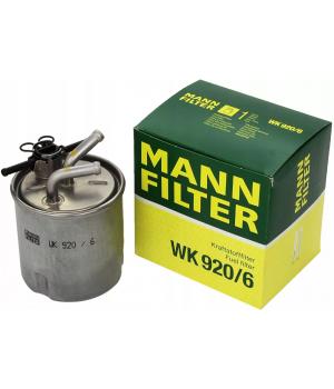 Топливный фильтр MANN-FILTER WK 920/6