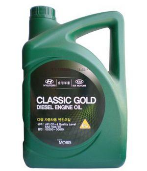 Моторное масло Hyundai/Kia Classic Gold Diesel Engine Oil 10W-30 CF-4, 6л