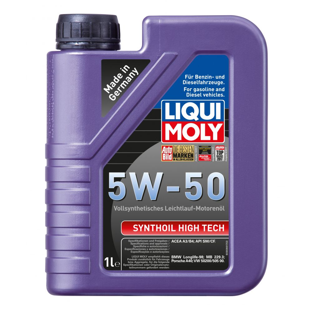 Моторное масло LIQUI MOLY Synthoil High Tech 5W-50, 1л