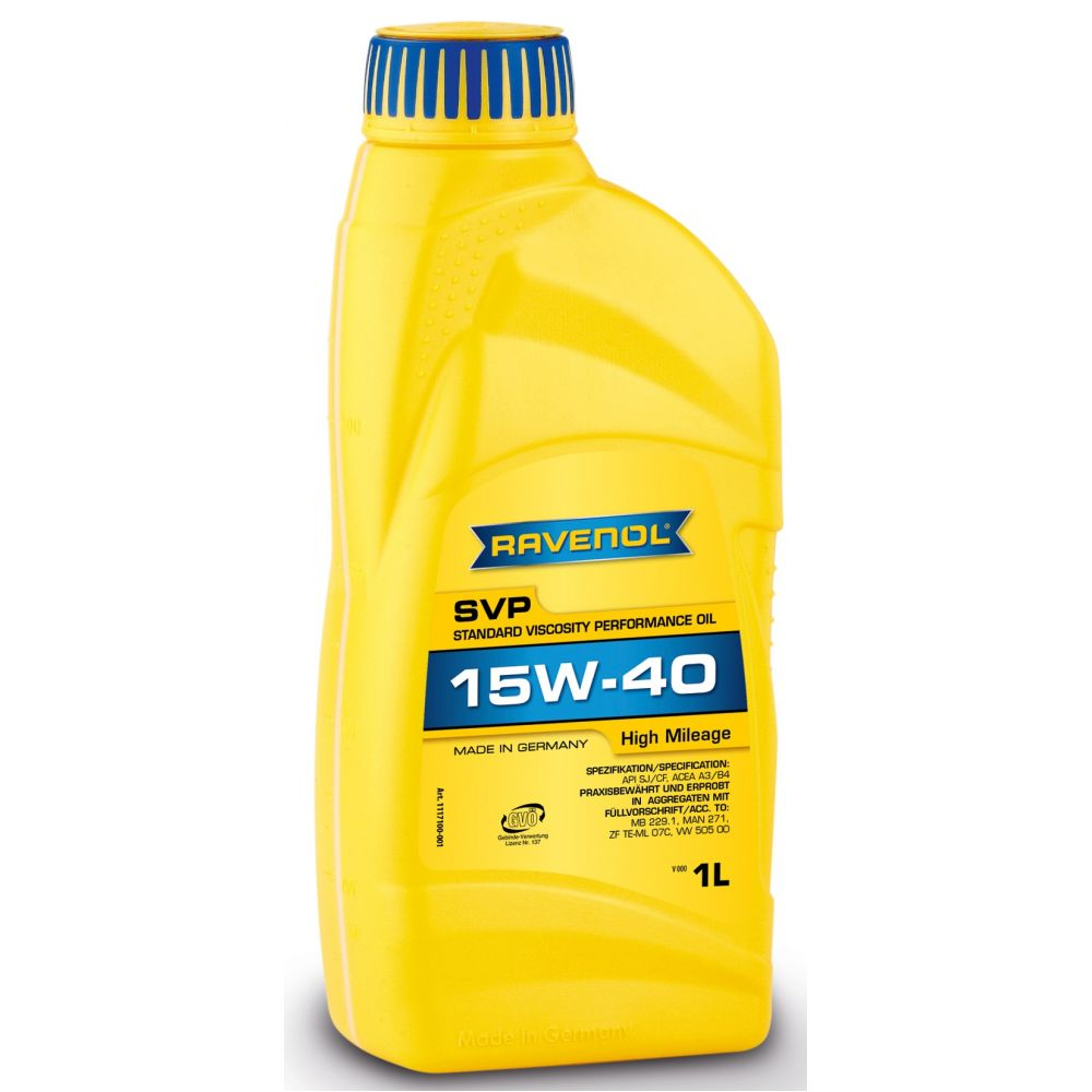 Моторное масло RAVENOL SVP Stand.Viscos.Perform.Oil SAE 15W-40 ( 1л) new