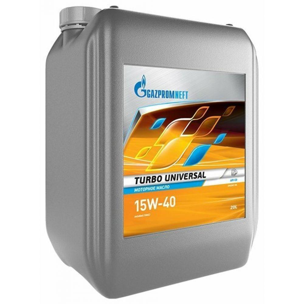 Моторное масло Gazpromneft Turbo Universal 15W-40, 20л