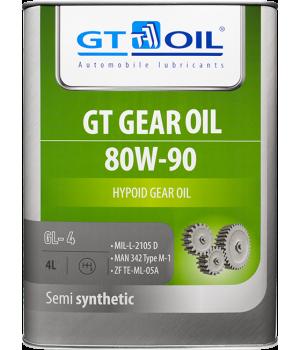 Трансмиссионное масло GT OIL GT GEAR Oil SAE 80W-90 GL-4, 4л