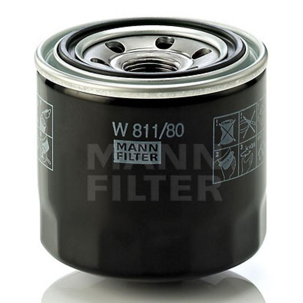 MANN фильтр масляный W 811/80 (=W 817/80) Hyundai,KIA,Mazda
