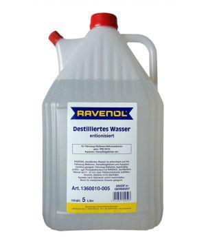 Вода дистиллированная RAVENOL destilliertes Wasser (5л) спец.канистра