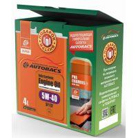 Моторное масло AUTOBACS Fully Synthetic 5W-40 SP/CF, 4л (+подарок)