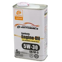 Моторное масло AUTOBACS Synthetic Engine Oil 5W-30 SN/GF-5, 1л