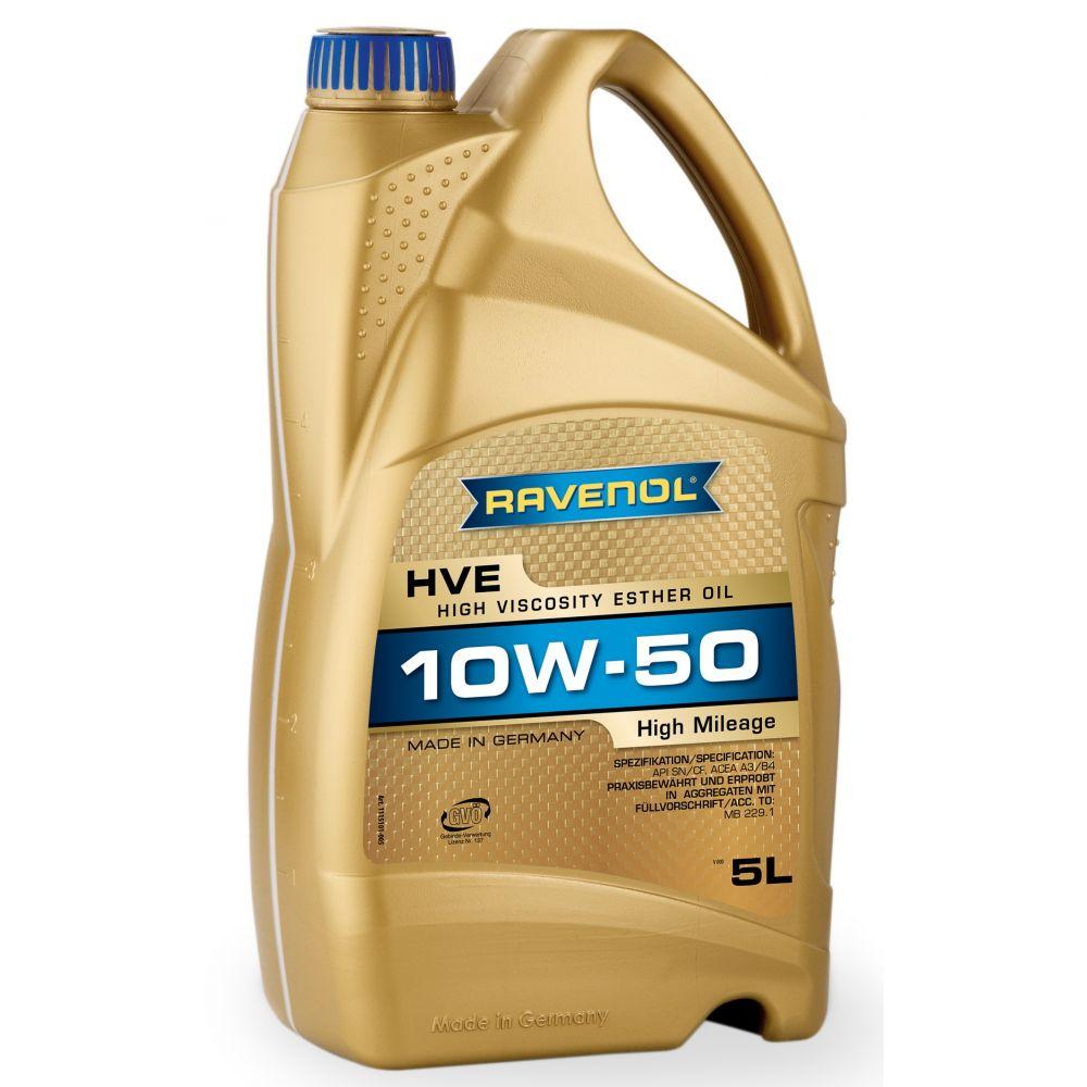 Моторное масло RAVENOL HVE High Viscosity Ester Oil SAE10W-50 ( 5л) new