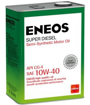 Моторное масло ENEOS Super Diesel Semi-Synthetic 10W-40, 4 л.