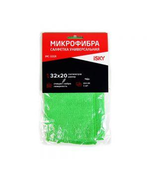 Салфетка для ухода за автомобилем iSky, 32х20 см, зеленый