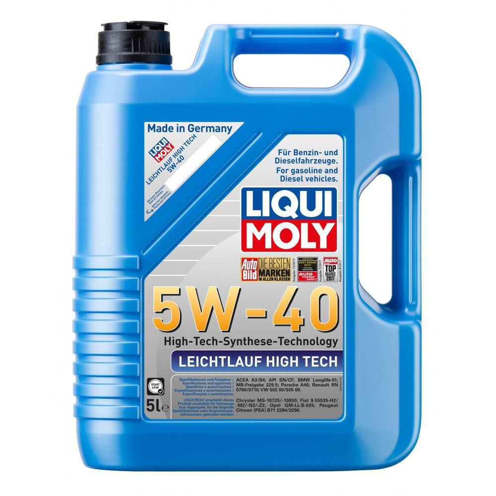 Моторное масло LIQUI MOLY НС Leichtlauf High Tech 5W-40, 5л