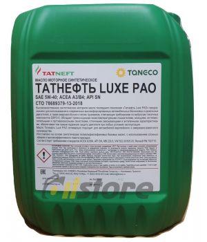 Моторное масло Татнефть LUXE PAO 5W-40, 10л