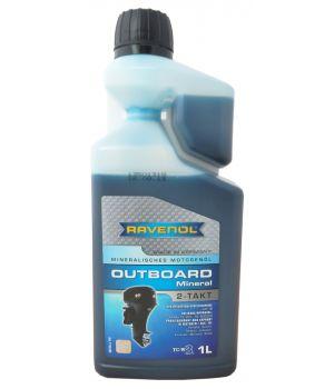 Моторное масло для 2Т лод.моторов RAVENOL Outboard 2T Mineral с дозатором ( 1л) new