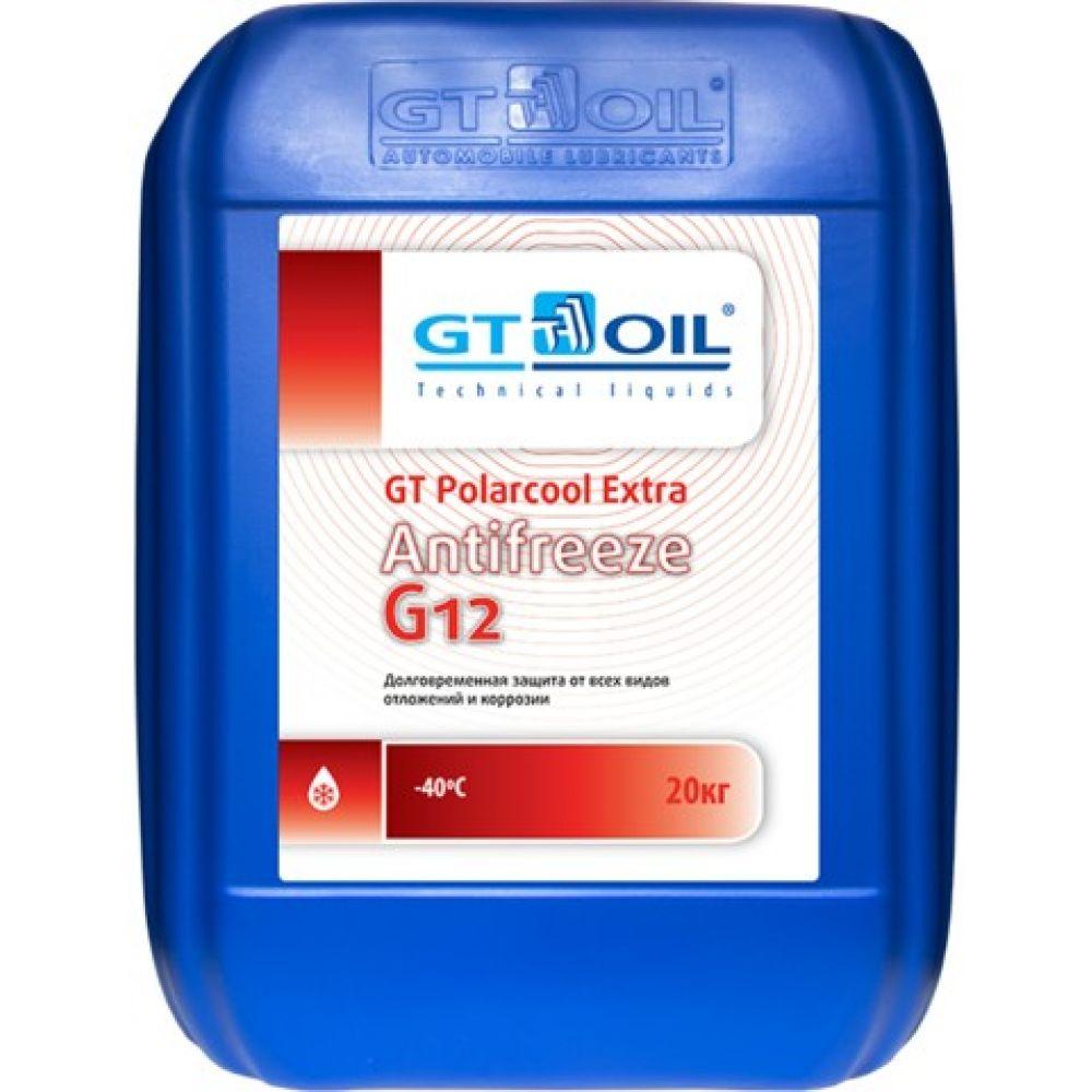Антифриз готовый GT OIL GT Polarcool Extra G12 красный, 20кг