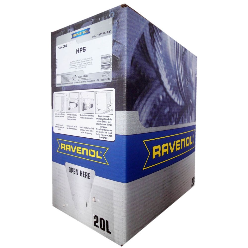 Моторное масло RAVENOL HPS SAE 5W-30 (20л) ecobox