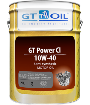 Моторное масло GT OIL GT Power CI SAE 10W-40, 20л