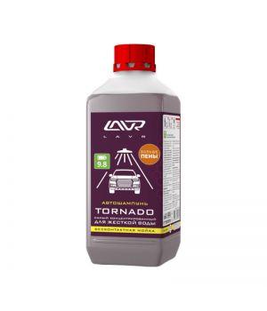 """Автошампунь для б/к мойки """"TORNADO"""" для жесткой воды 9.8 (1:60-1:160) LAVR Ln2341, 1 л"""