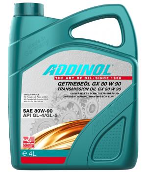 Трансмиссионное масло ADDINOL Getriebeol GX 80W-90, 4л