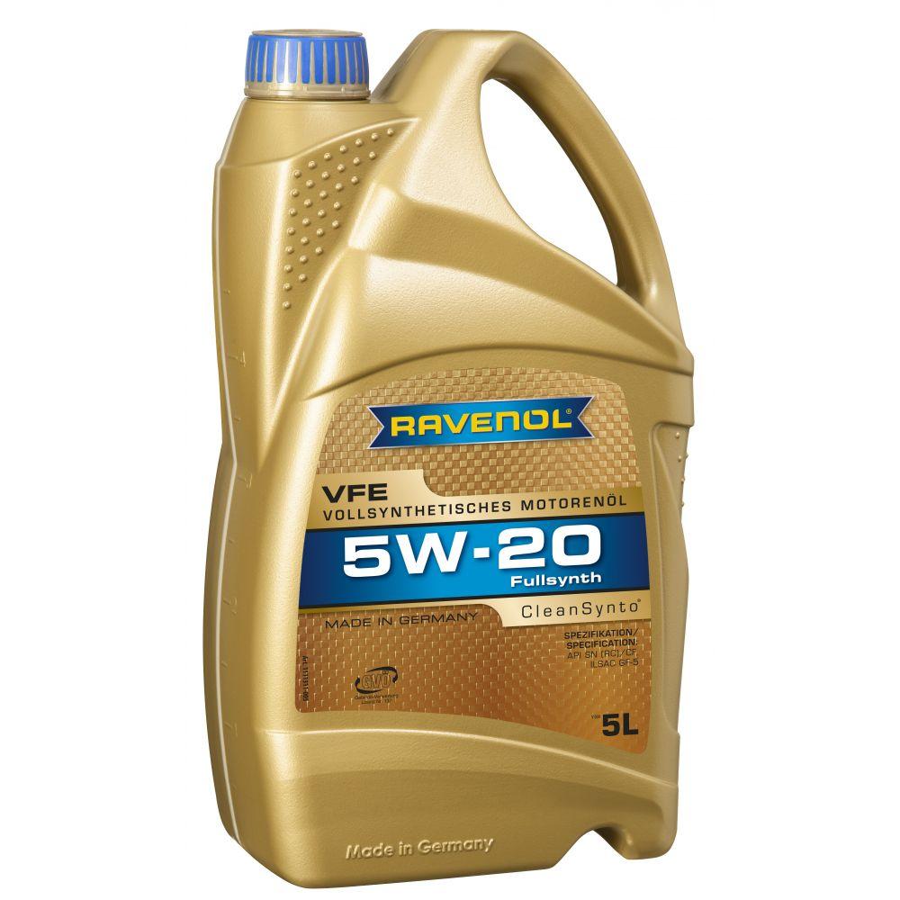 Моторное масло RAVENOL VFE SAE 5W-20 ( 5л) new