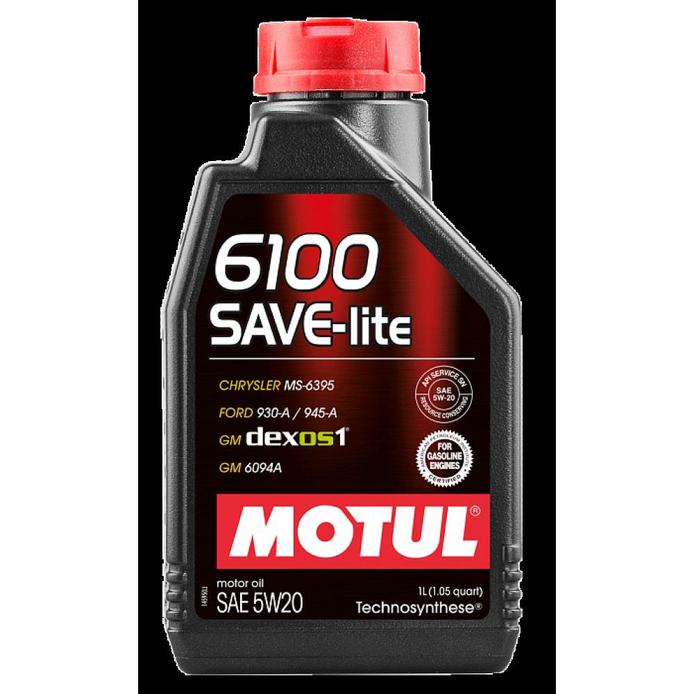 Моторное масло Motul 6100 SAVE-lite 5W-20, 1л