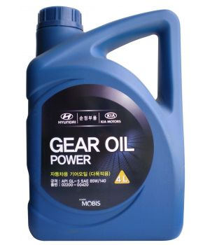 Трансмиссионное масло Hyundai/Kia Gear Oil Power 85W-140 GL-5, 4л
