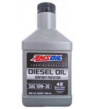 Моторное масло AMSOIL Heavy-Duty Synthetic Diesel Oil 10W-30, 0.946л