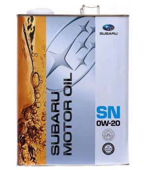 Моторное масло Subaru Motor Oil SN 0W-20, 4л