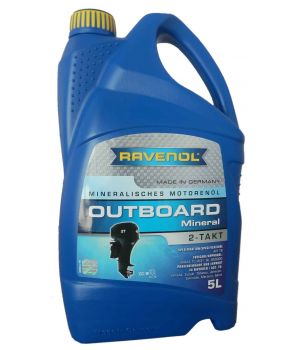 Моторное масло для 2Т лод.моторов RAVENOL Outboard 2T Mineral ( 5л) new
