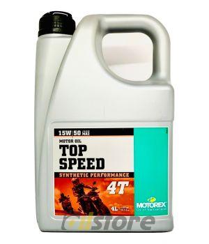 Моторное масло MOTOREX TOP SPEED 4T 15W-50 JASO MA2, 4л