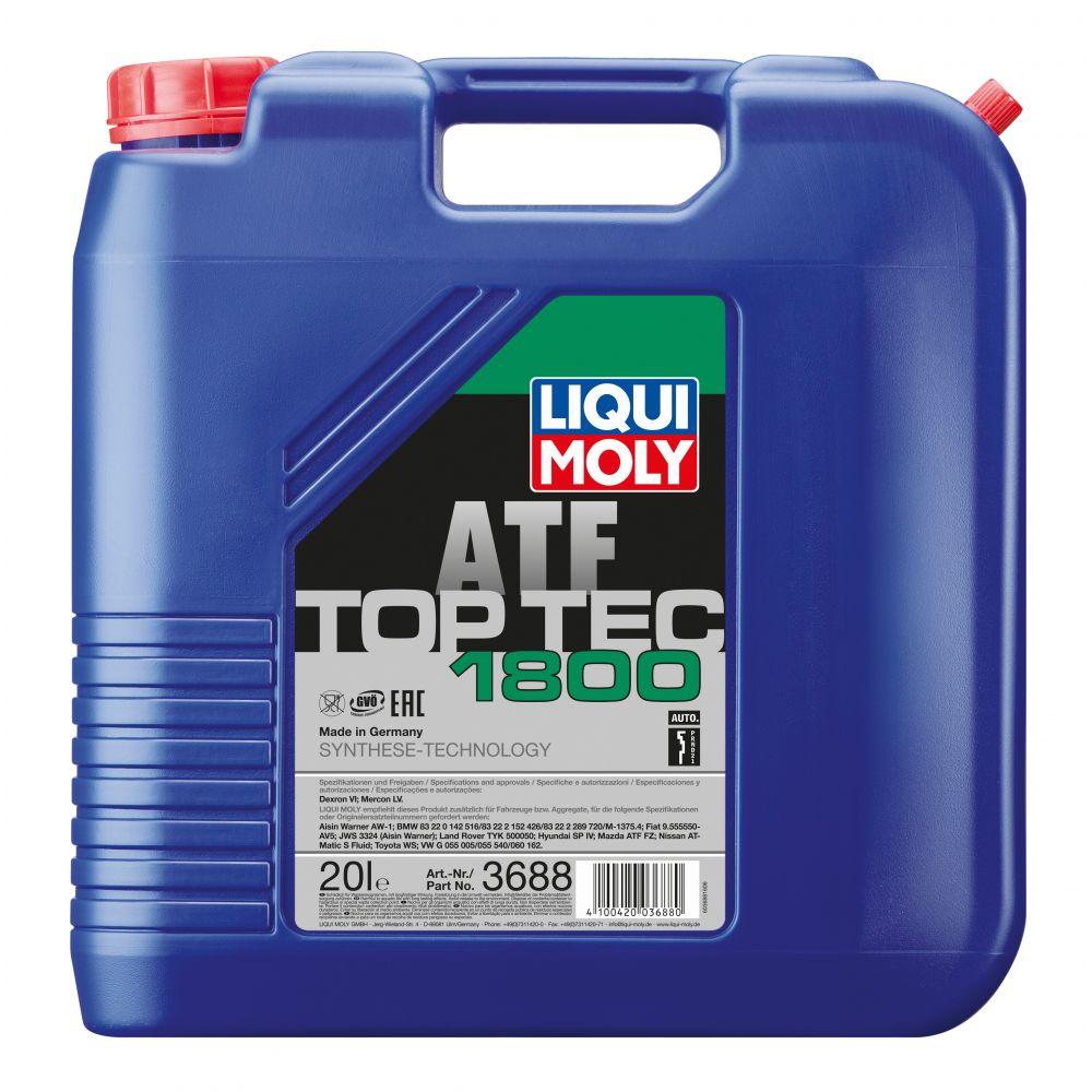 Трансмиссионное масло для LIQUI MOLY АКПП НС Top Tec ATF 1800, 20л