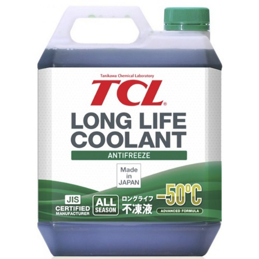 Антифриз TCL Long Life Coolant GREEN -50°C, 4л