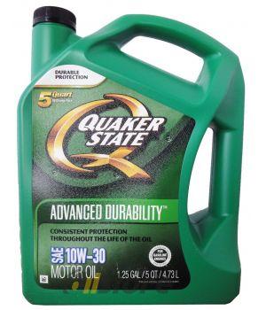 Моторное масло QUAKER STATE Advanced Durability SAE 10W-30 (4,730л)