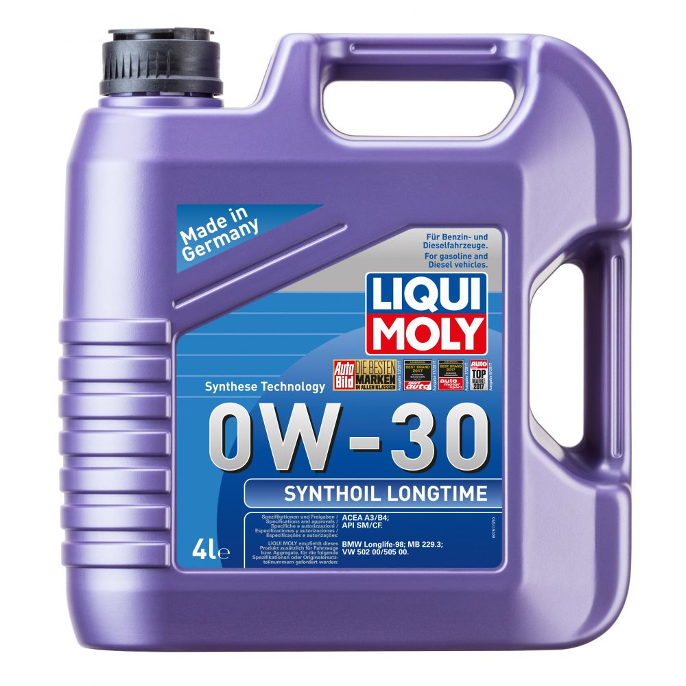 Моторное масло LIQUI MOLY Synthoil Longtime 0W-30, 4л