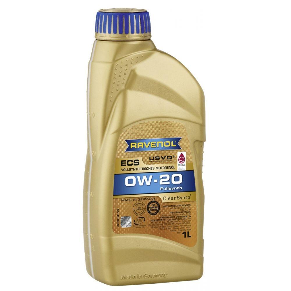 Моторное масло RAVENOL ECS EcoSynth SAE 0W-20, 1л