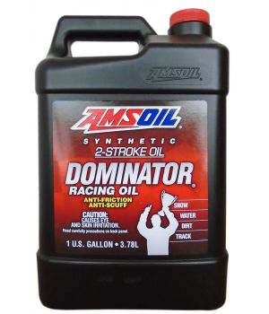 Моторное масло AMSOIL Dominator Synthetic 2-Stroke Racing Oil, 3,784 л.