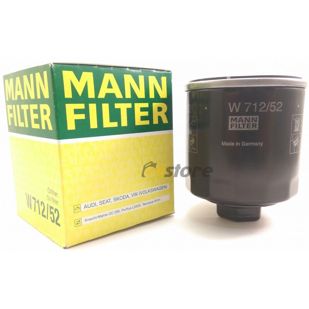 Масляный фильтр MANN-FILTER W 712/52