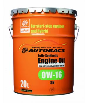 Моторное масло AUTOBACS ENGINE OIL SYNTHETIC 0W-16, 20л