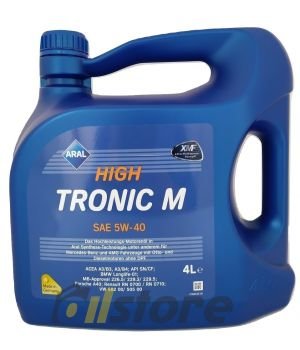 Моторное масло ARAL HighTronic M 5W-40, 4л