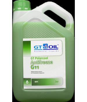 Антифриз готовый GT OIL GT Polarcool G11 зеленый, 3кг