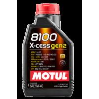 Моторное масло Motul 8100 X-cess gen2 5W-40, 1л