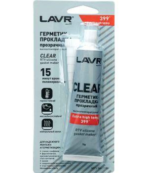 Герметик-прокладка прозрачный высокотемпературный LAVR Ln1740, 70 г.