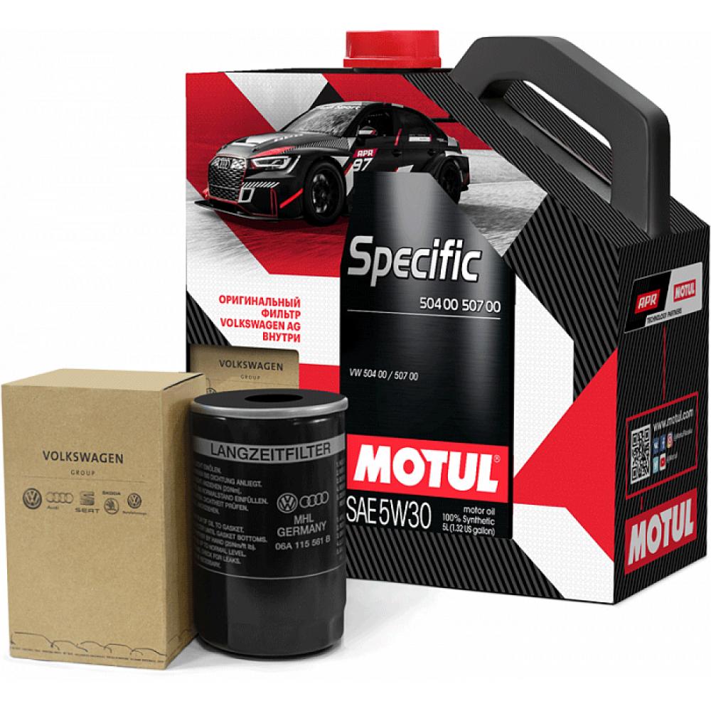 Моторное масло Motul Specific 504.00/507.00 VW 5W-30, 5л  (промо + фильтр VAG)