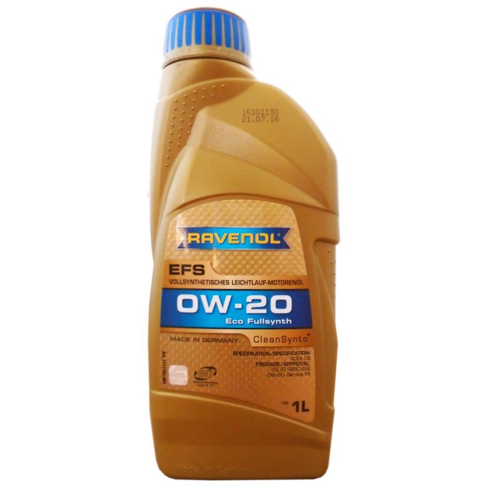 Моторное масло RAVENOL EFS EcoFullSynth SAE 0W-20 ( 1л) new